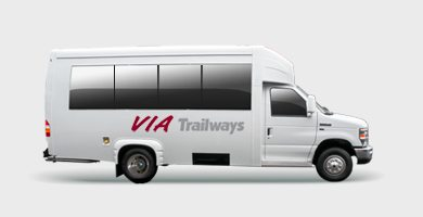 luxury mini charter bus via trailways